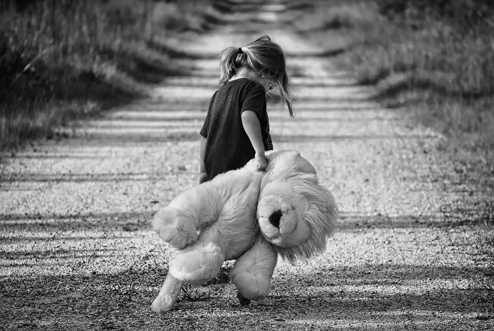 bagaj calatorie fetita ursulet