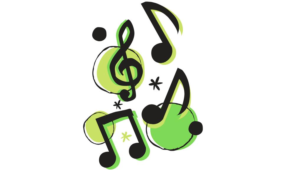 muzică si note muzicale